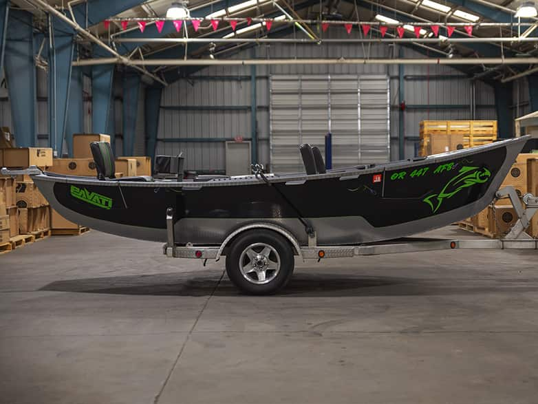 Black and Lime Guardian Drift Boat