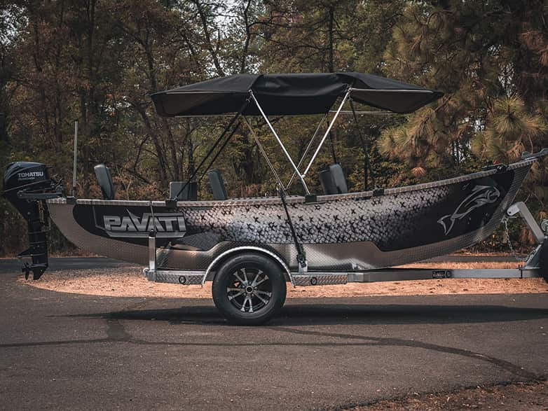 Fish Scale Wrap Guardian Drift Boat