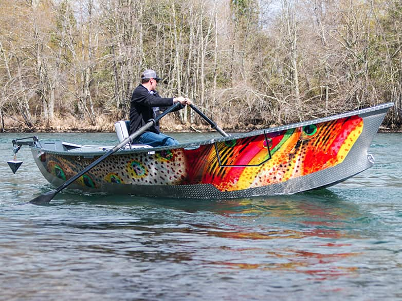 Rainbow Wrap Warrior Drift Boat