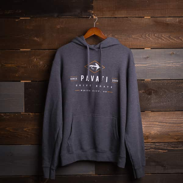 Pavati Wake Boats Product: Diamond Fly Hoodie (Charcoal)